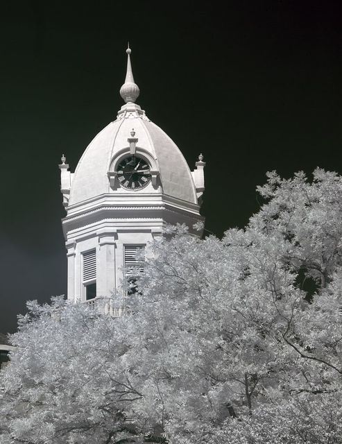 View of the historic Monroe County Courthouse, Monroeville, Alabama