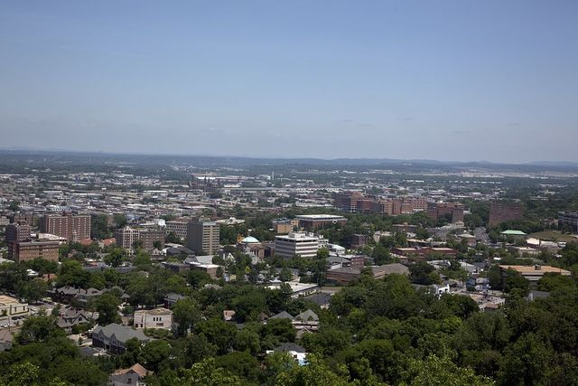 Views of Birmingham, Alabama, from Vulcan Statue