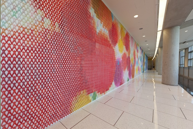 Artwork by Do-Ho Suh at the Food and Drug Administration building, Silver Spring, Maryland