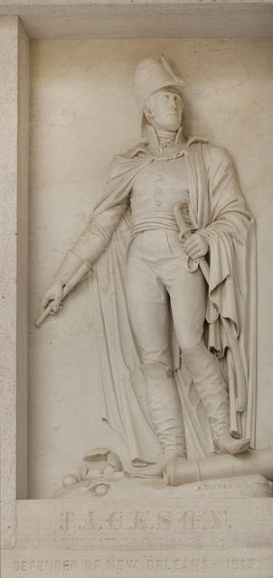 "Bas relief ""Jackson, Defender of New Orleans, 1818,"" by Auguste DeFrasse at the U.S. Custom House in New Orleans, Louisiana"