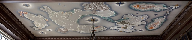 "Ceiling mural ""The Four Seasons and Signs of the Zodiac (Winter),"" by Vahe Kirishjian at the Ariel Rios Federal Building, Washington, D.C."
