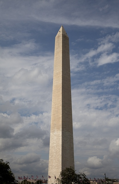 Climbers assessing damage to the Washington Monument following the 2011 earthquake. Washington, D.C.