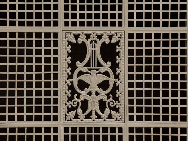 Interior grille, U.S. Custom House in New Orleans, Louisiana