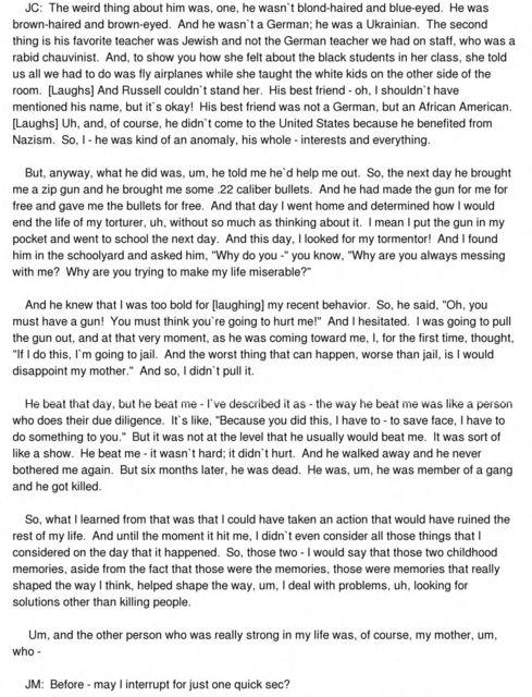John Elliott Churchville oral history interview conducted by Joseph Mosnier in Philadelphia, Pennsylvania, 2011-07-15.