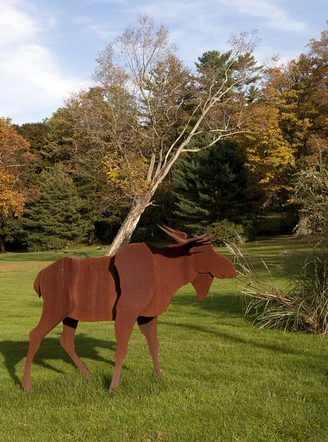 Moose sculpture, Lakeville, Connecticut