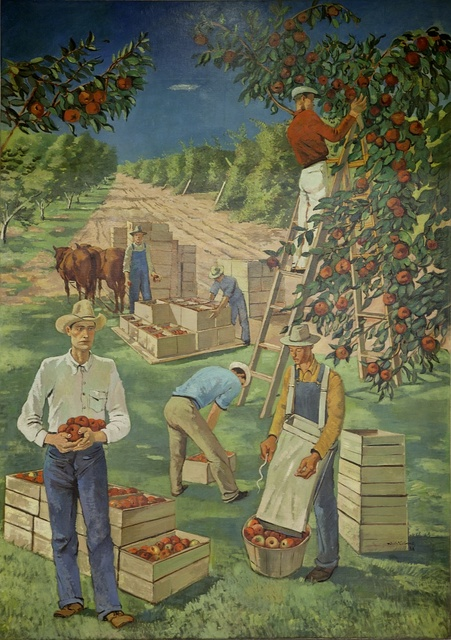 """Mural """"Apple Industry,"""" by Nicolai Cikovsky at the Department of Interior Building, Washington, D.C."""