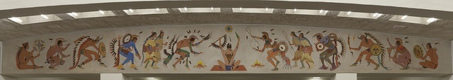 """Mural """"Ceremonial Dance"""" by Stephen Mopope at the Department of Interior, Washington, D.C."""