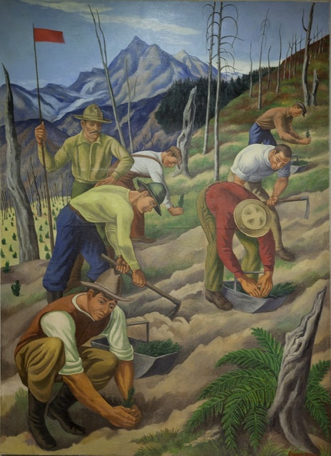 "Mural: ""Replanting the Wasteland,"" by Ernest Fiene at the Department of Interior, Washington, D.C."