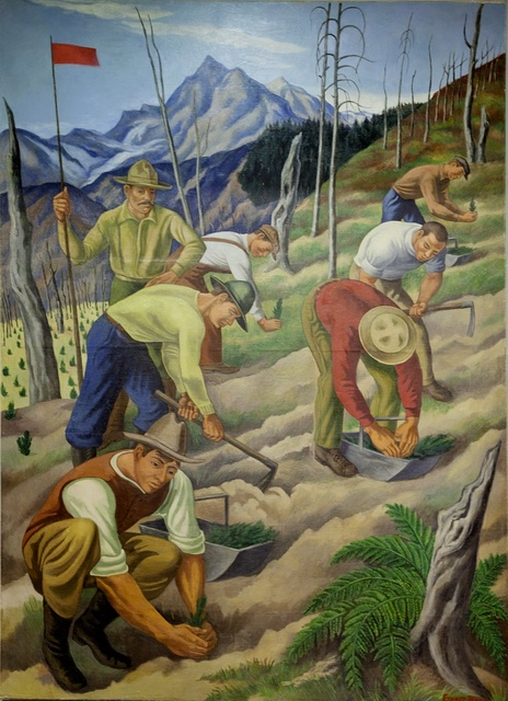"Mural ""Replanting the Wasteland,"" by Ernest Fiene at the Department of Interior Building, Washington, D.C."