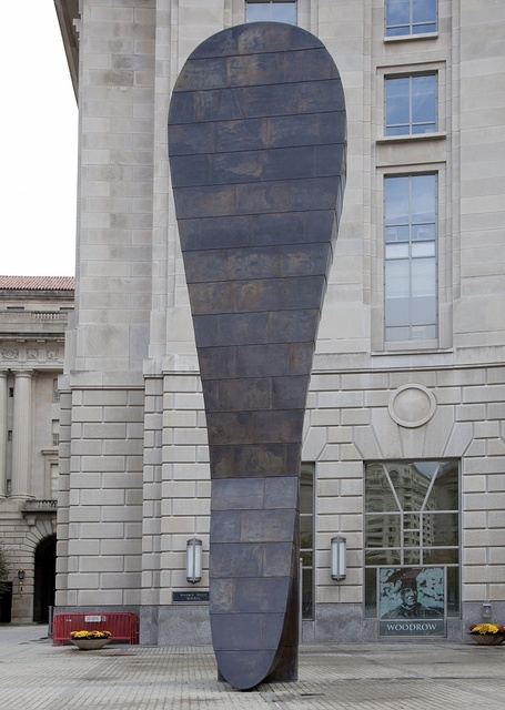 """Sculpture """"Bearing Witness,"""" by Martin Puryear at the Environmental Protection Agency, Ronald Reagan Building, Washington, D.C."""