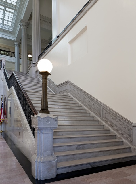 Stairs at U.S. Custom House in New Orleans, Louisiana