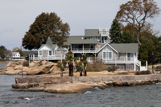 Thimble Islands archipelago in the Long Island Sound, Branford, Connecticut