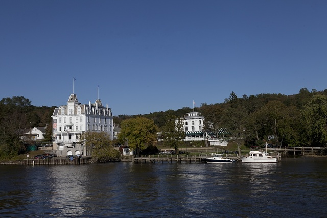 View from the Connecticut River of the Goodspeed Opera House, East Haddam, Connecticut