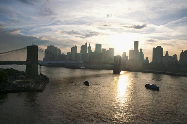 View of Lower Manhattan from the Manhattan Bridge, May 2011