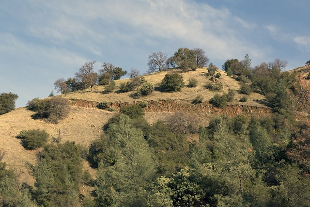 A hillside near Lake Oroville, high above the city of the same name in Butte County, California