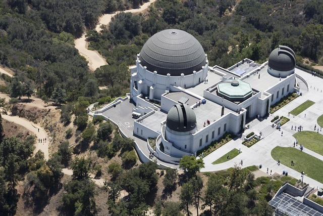 Aerial view of Griffith Observatory, Los Angeles, California