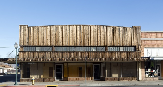 An old, vacant mercantile building in Alturus, seat of Modoc County in far-northeastern California