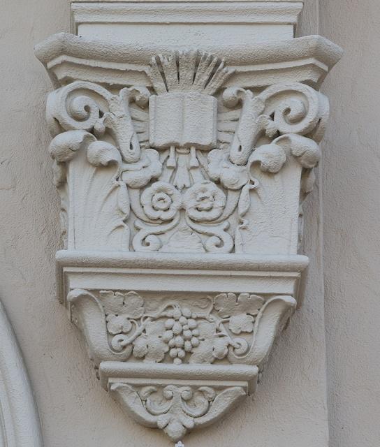 Architectural detail at Mission Santa Clara de Asís, Santa Clara, California