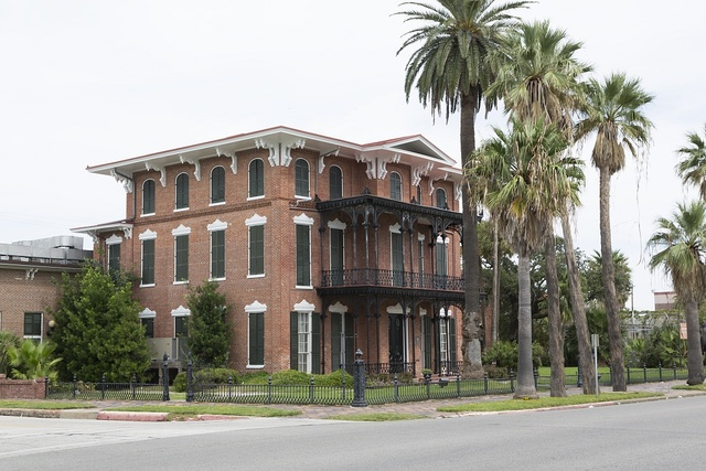 "Ashton Villa,  built in 1858-59, was the first of Galveston's Broadway ""palaces,"" as well as the first brick house to be built in Texas"