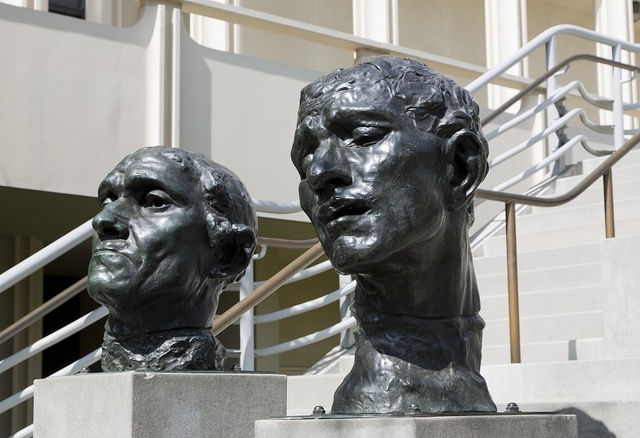 Auguste Rodin sculptures on the grounds of the Los Angeles County Museum of Art in California