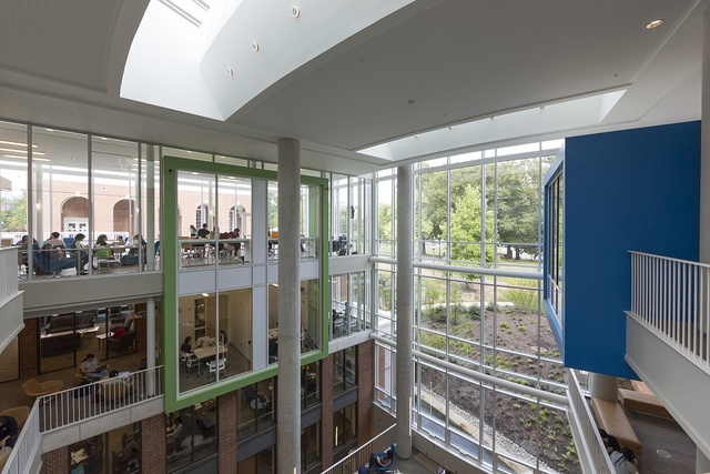 Brody Learning Commons on the Homewood Campus is part of the Johns Hopkins Sheridan Libraries. Baltimore, Maryland