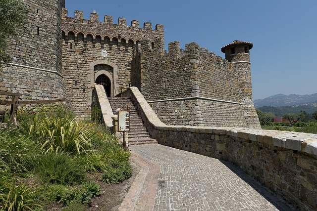 Castello di Amorosa, 12th century medieval Tuscan-style castle Winery; featuring hand-crafted Italian style wines in California