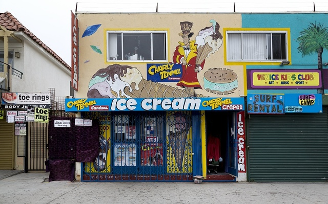 Charly Temmel Ice Cream in Venice, a beachfront district on the Westside of Los Angeles, California