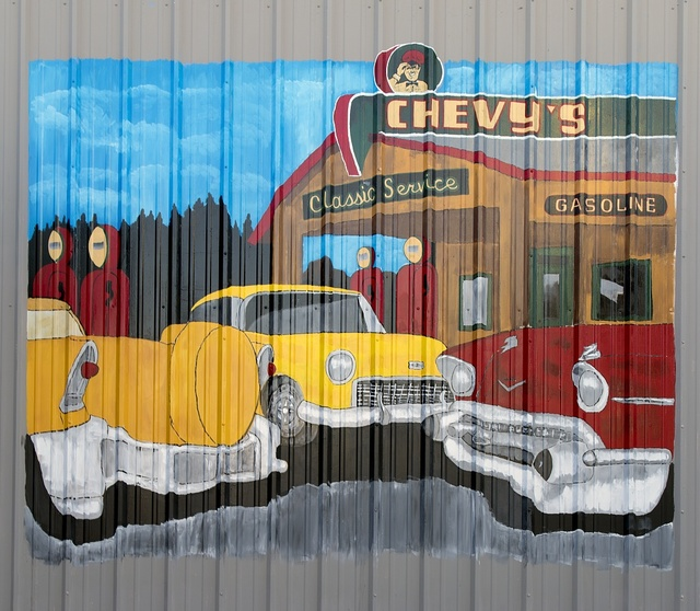 Chevy's mural in Needles, California