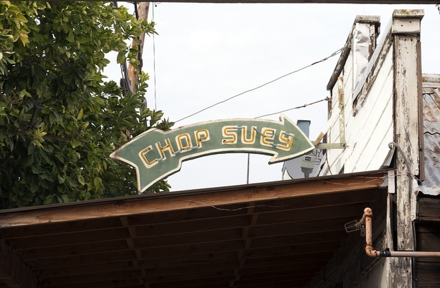 Chop Suey sign in Locke, an unincorporated community in the Sacramento/San Joaqin River Delta in California