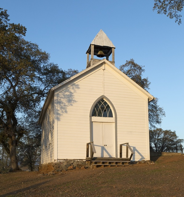Church in Chinese Camp, a small settlement in Tuolumne County, California