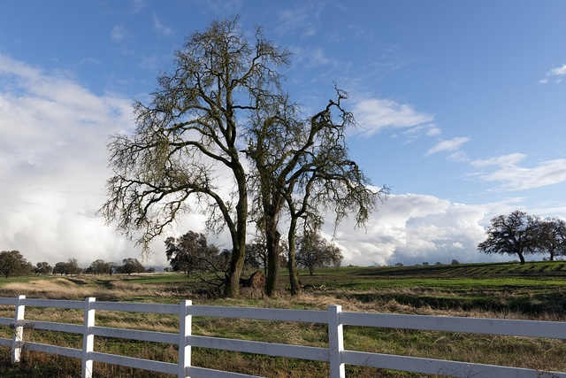 Complex clouds form after many inches of rain over several days near Stockton, California