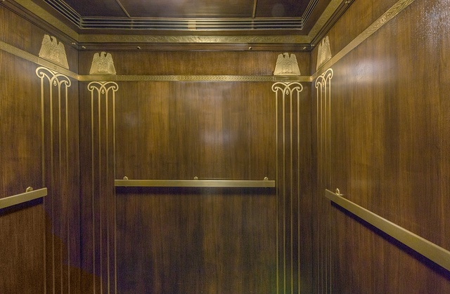 Elevator at The Robert A. Grant Federal Building & U.S. Courthouse, South Bend, Indiana