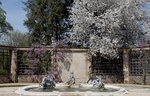 Garden views at Dumbarton Oaks in the Georgetown neighborhood of Washington, D.C.