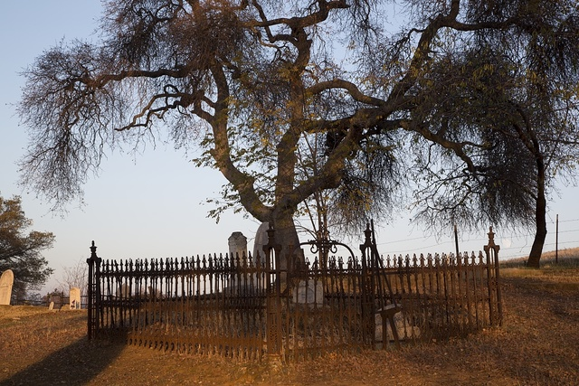 Graveyard in Chinese Camp, a small settlement in Tuolumne County, California