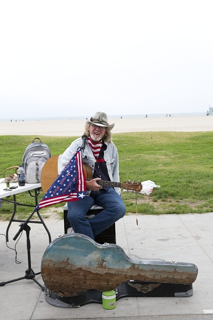 Guitar player in Venice, a beachfront district on the Westside of Los Angeles, California
