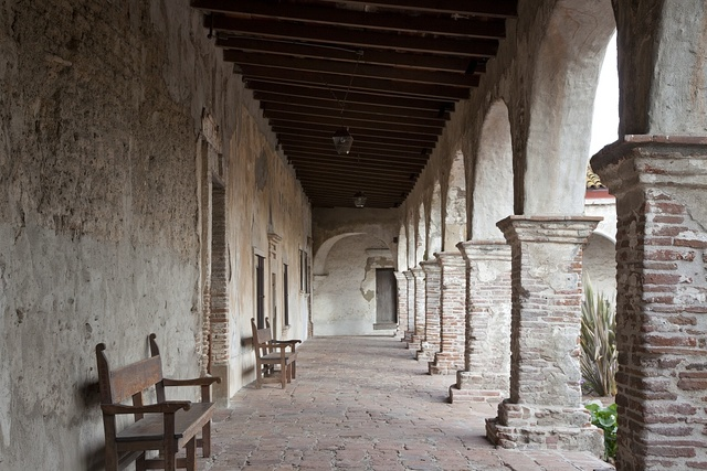 Mission San Juan Capistrano, the seventh of twenty-one missions to be founded in Alta California