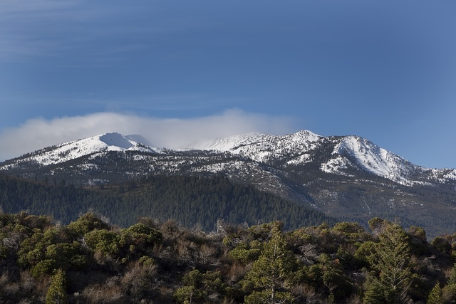 Mountain peaks at the southern end of the Cascade Range in Siskiyou County, California.