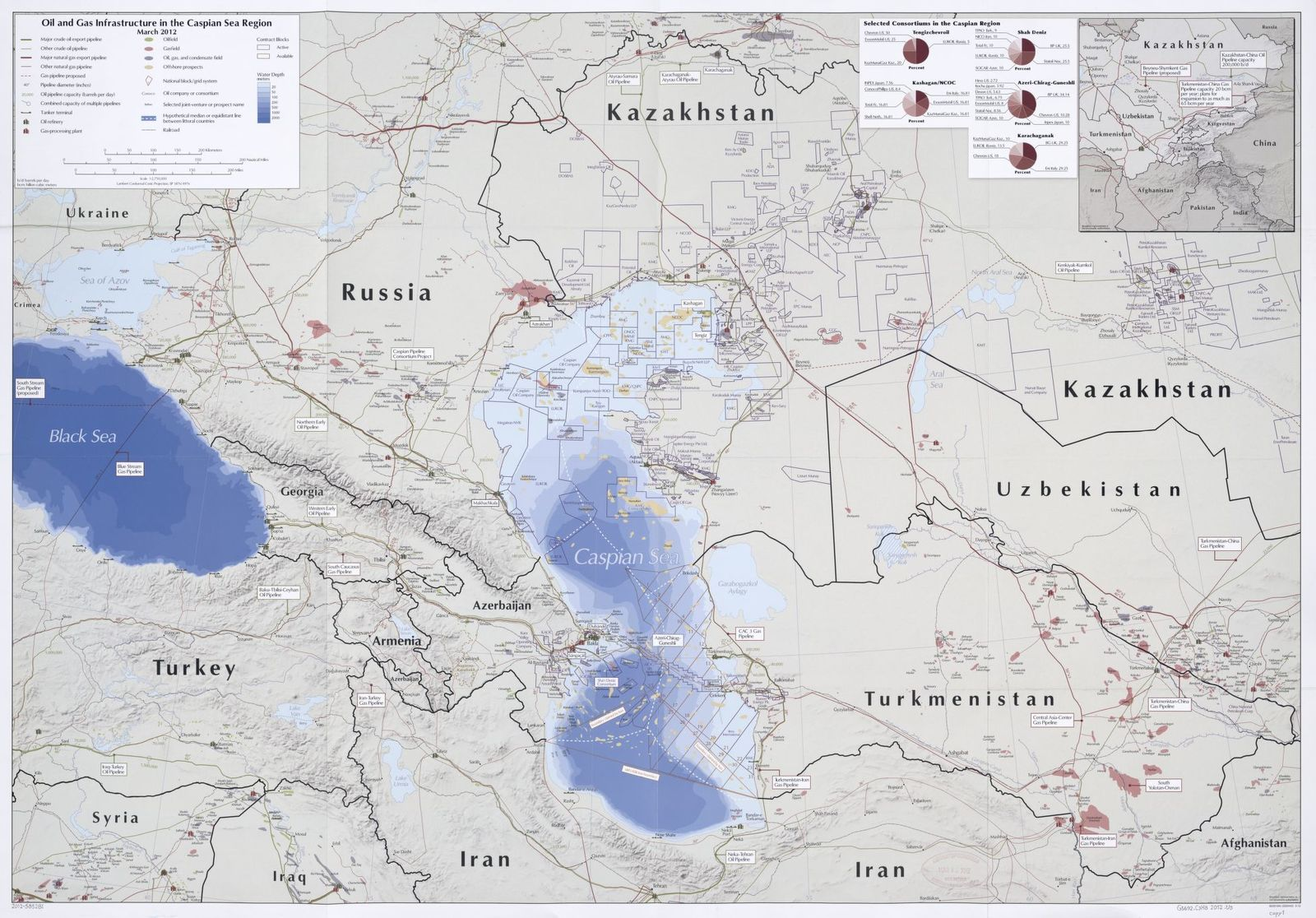 Oil and gas infrastructure in the Caspian Sea region : March 2012.