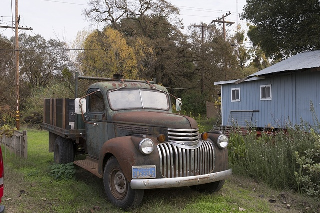 Old Chevrolet truck in Locke, an unincorporated community in the Sacramento/San Joaqin River Delta in California