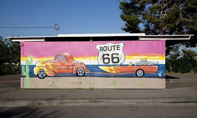 ]Route 66 mural by Dan Louden located in Needles, California]