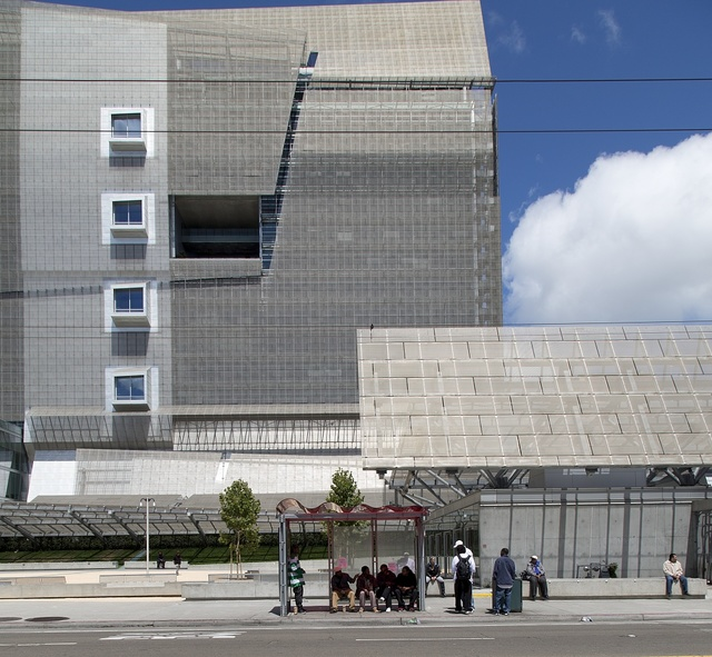San Francisco Federal building located at 90 7th Street on the corner of Mission and 7th Streets in South of Market, San Francisco, California