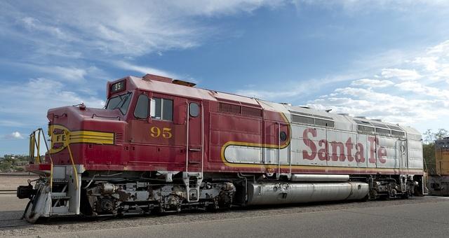 Santa Fe train in Barstow, California