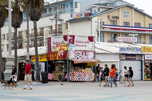 Sidewalk Market in Venice, a beachfront district on the Westside of Los Angeles, California