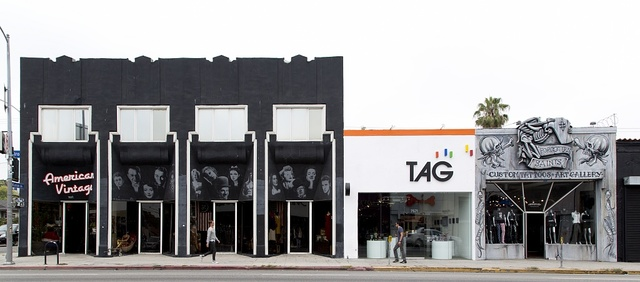 Stores on Melrose Avenue, an internationally renowned shopping, dining and entertainment destination in Los Angeles, California