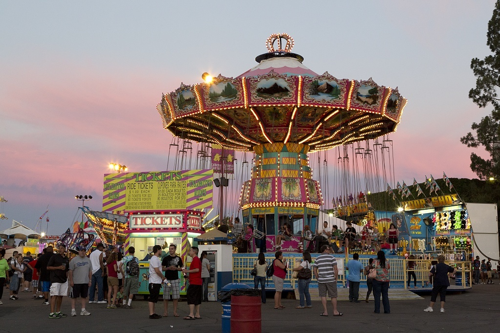Swing ride at the 2012 California State Fair held in