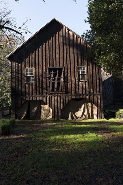 The Bale Grist Mill, now a California Historic Park, operated by the Napa County Regional Park and Open Space District on California Highway 29 between St. Helena and Calistoga, California
