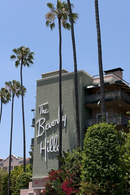 The Beverly Hills Hotel on Sunset Boulevard in Beverly Hills, California
