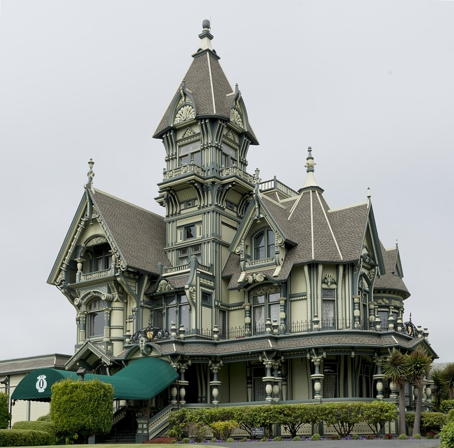 The Carson Mansion is a large Victorian house located in Old Town, Eureka, California