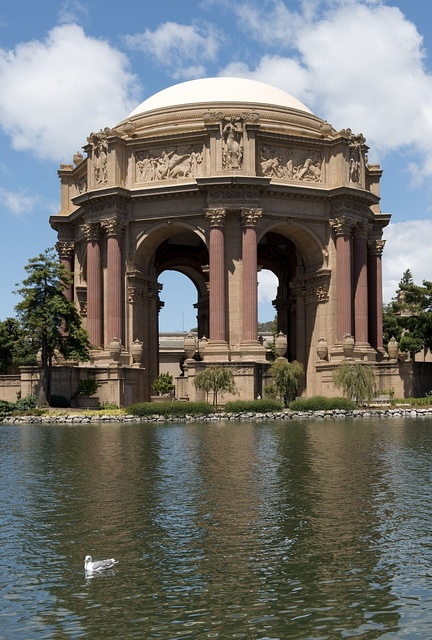 The Palace of Fine Arts in the Marina District of San Francisco, California