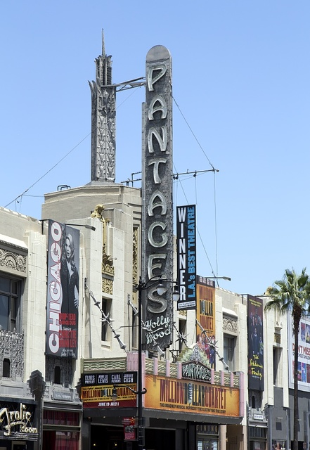 The Pantages Theatre located at Hollywood and Vine, Hollywood, California